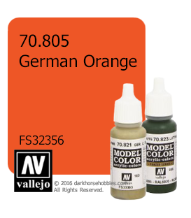 Vallejo Model Color: German Orange (17ml)