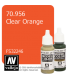 Vallejo Model Color: Clear Orange (17ml)