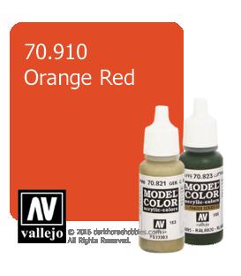Vallejo Model Color: Orange Red (17ml)