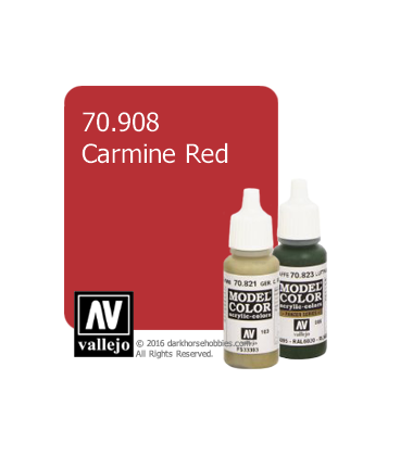 Vallejo Model Color: Carmine Red (17ml)