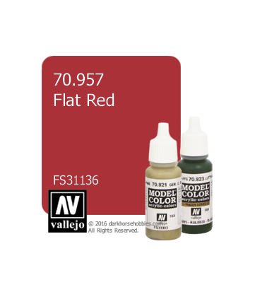Vallejo Model Color: Flat Red (17ml)