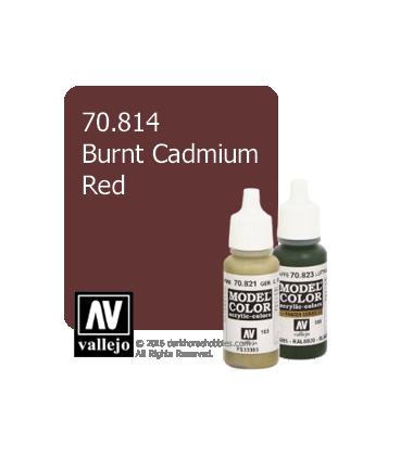 Vallejo Model Color: Burnt Cadmium Red (17ml)