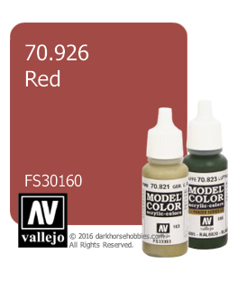Vallejo Model Color: Red - 30160 (17ml)