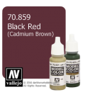 Vallejo Model Color: Black Red (17ml)