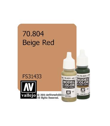 Vallejo Model Color: Beige Red (17ml)