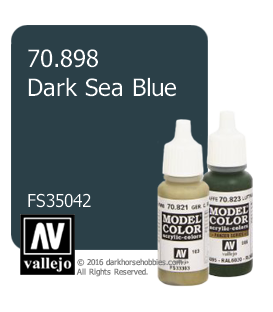 Vallejo Model Color: Dark Sea Blue (17ml)