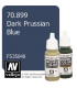 Vallejo Model Color: Dark Prussian Blue (17ml)