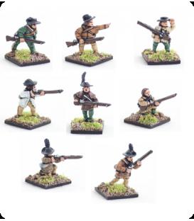 10mm American Revolution: Riflemen including command
