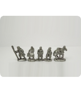 10mm Mongols: Camp Followers and pack horses