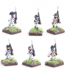 10mm American Revolution: American Summer militia / continentals in wasitcoats