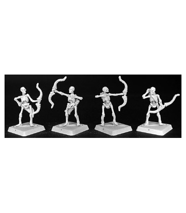 Warlord: Necropolis - Skeletal Archers, Necropolis Adept (9-pack) (unpainted)