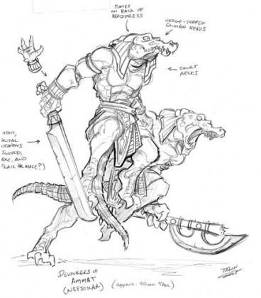 Warlord: Nefsokar - Ammat Devourers, Nefsokar Adept (9-pack) (concept art)