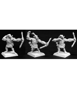 Warlord: Reven - Bull Orc Archers, Reven Adept (6-pack) (unpainted)