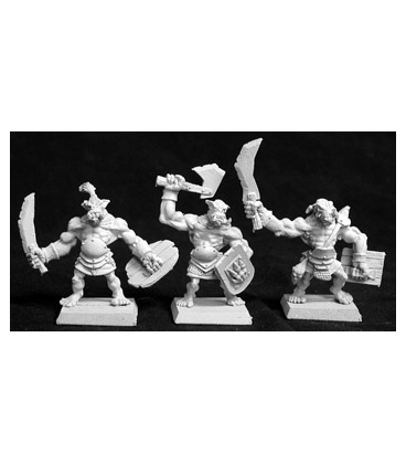 Warlord: Reven - Bull Orc Fighters, Reven Grunt (6-pack) (unpainted)