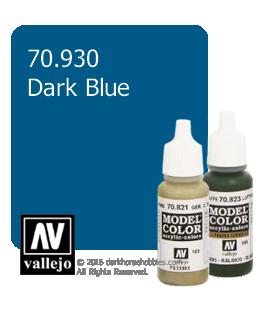 Vallejo Model Color: Dark Blue (17ml)