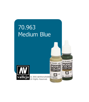 Vallejo Model Color: Medium Blue (17ml)