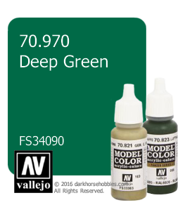 Vallejo Model Color: Deep Green (17ml)
