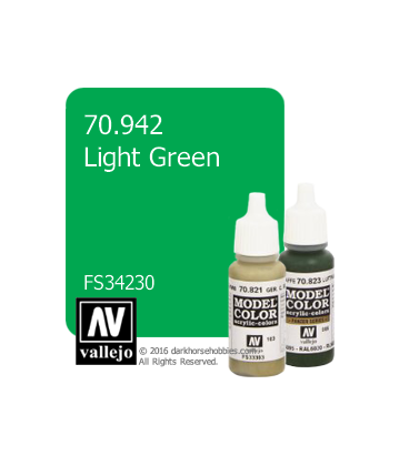 Vallejo Model Color: Light Green (17ml)