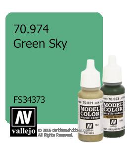 Vallejo Model Color: Green Sky (17ml)