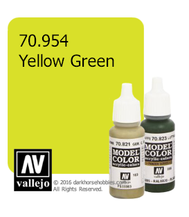 Vallejo Model Color: Yellow Green (17ml)