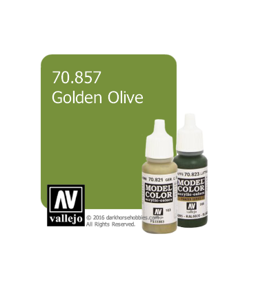 Vallejo Model Color: Golden Olive (17ml)
