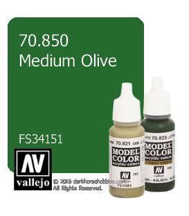 Vallejo Model Color: Medium Olive (17ml)