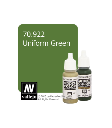 Vallejo Model Color: Uniform Green (17ml)