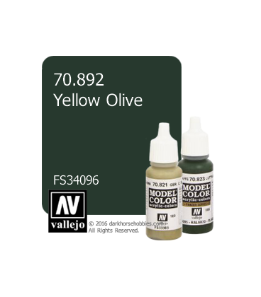 Vallejo Model Color: Yellow Olive (17ml)