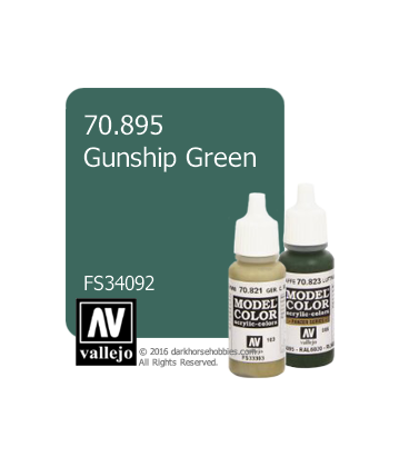 Vallejo Model Color: Gunship Green (17ml)