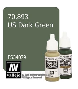 Vallejo Model Color: US Dark Green (17ml)