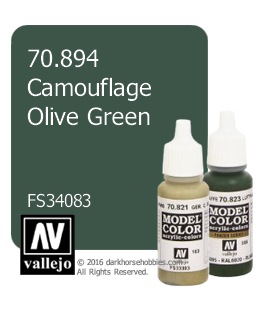 Vallejo Model Color: Camouflage Olive Green (17ml)