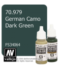 Vallejo Model Color: German Camo Dark Green (17ml)