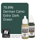 Vallejo Model Color: German Camo Extra Dark Green (17ml)