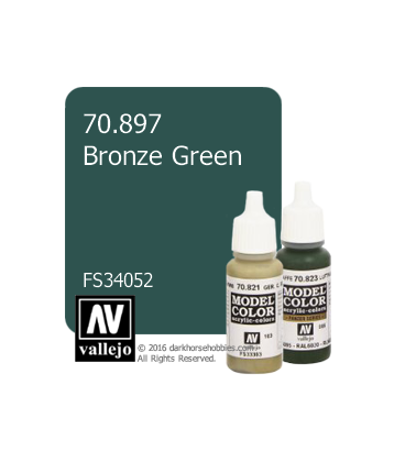 Vallejo Model Color: Bronze Green (17ml)