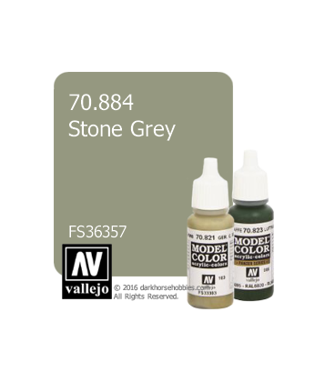 Vallejo Model Color: Stone Grey (17ml)