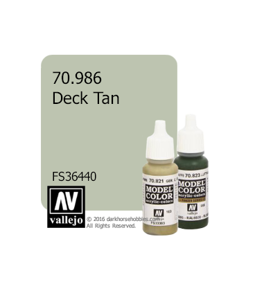 Vallejo Model Color: Deck Tan (17ml)