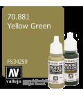 Vallejo Model Color: Yellow Green (17ml)