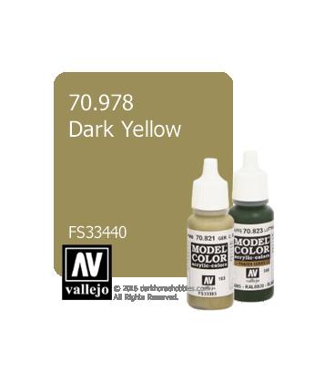 Vallejo Model Color: Dark Yellow (17ml)