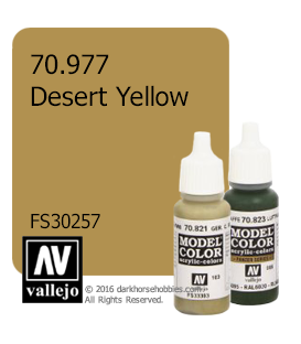 Vallejo Model Color: Desert Yellow (17ml)