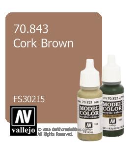 Vallejo Model Color: Cork Brown (17ml)