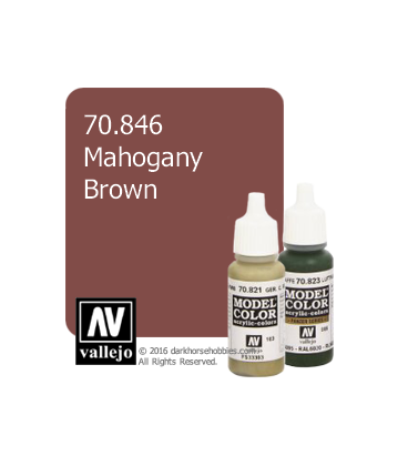 Vallejo Model Color: Mahogany Brown (17ml)