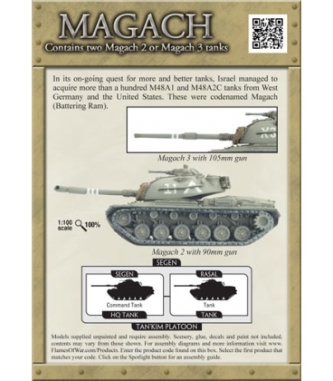 Flames Of War (Arab-Israel): Israeli Magach Tank Section