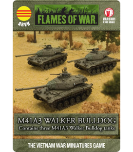 Flames of War (Vietnam): ARVN M41A3 Walker Bulldog Tank Section