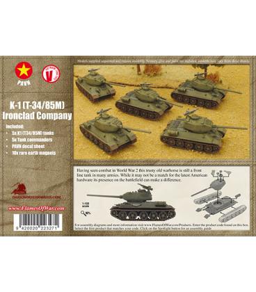 Flames of War (Vietnam): PAVN T-34/85M (K-1) Ironclad Company