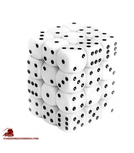 Chessex: Opaque 12mm d6 White/Black dice set (36)