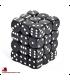 Chessex: Opaque 12mm d6 Black/White dice set (36)