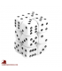 Chessex: Opaque 16mm d6 White/Black dice set (12)
