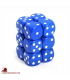 Chessex: Opaque 16mm d6 Blue/White dice set (12)