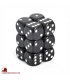 Chessex: Opaque 16mm d6 Black/White dice set (12)