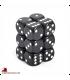 Chessex: Opaque 16mm d6 Black/White dice set (12)